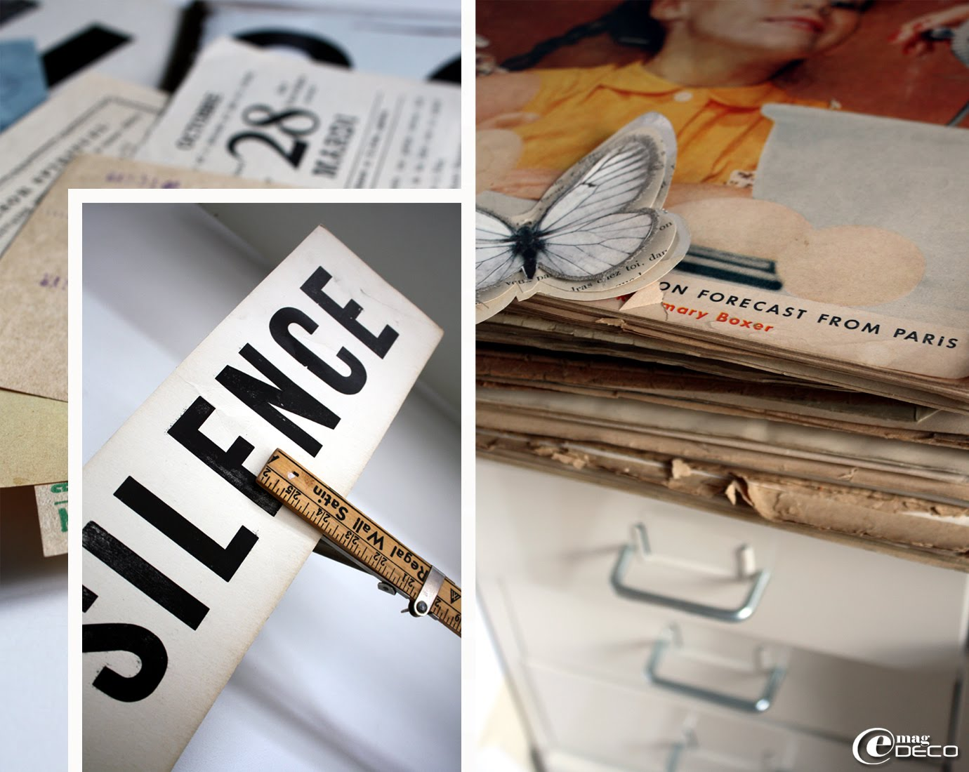 Vieux papiers, tickets et magazines anciens