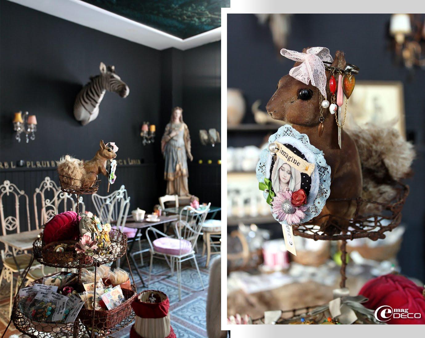Bijoux Hurluperlues dans la boutique-salon de thé Ad Libitum en Ardèche