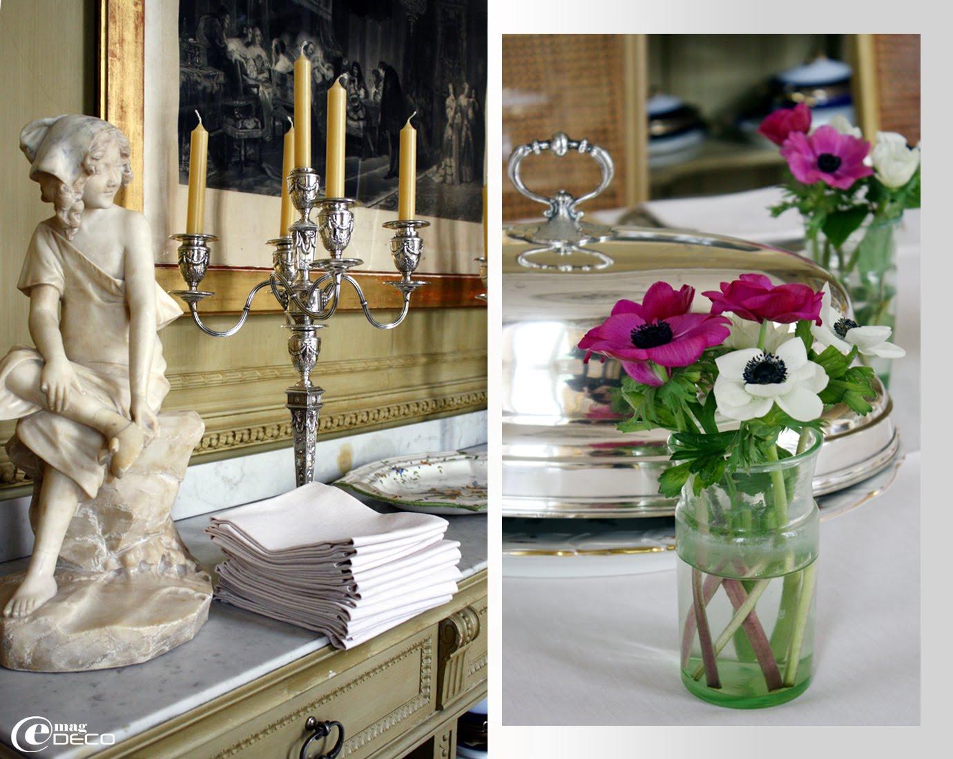 Détails du Salon Napoléon III de l'Hôtel La Mirande