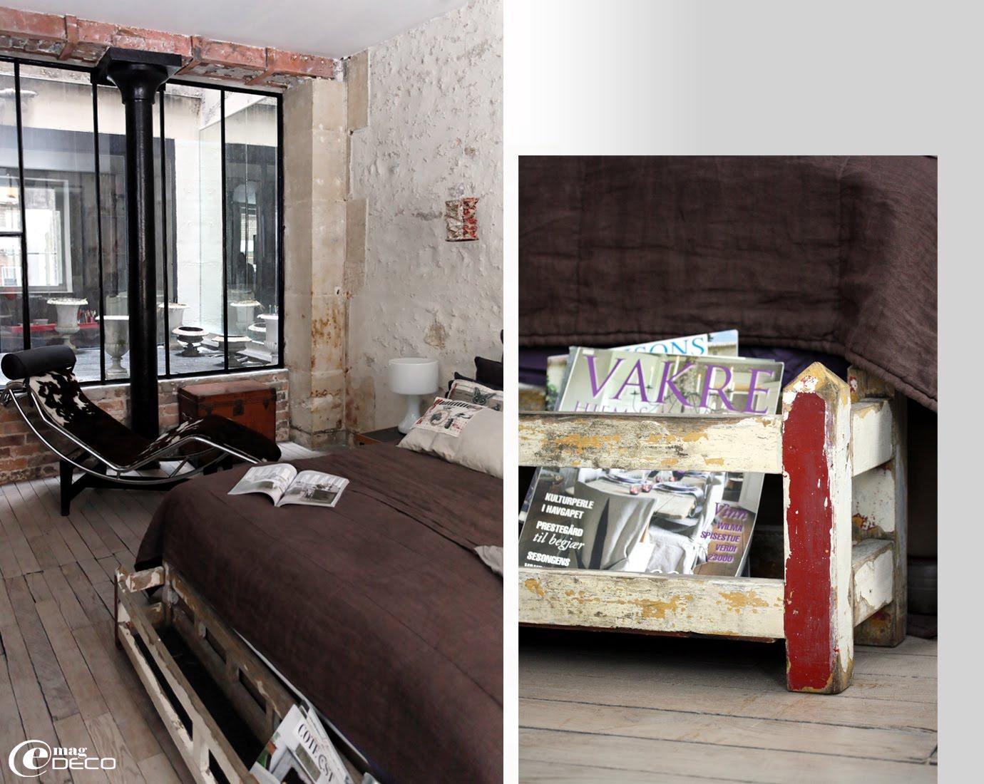 Chaise longue Le Corbusier dans un loft parisien