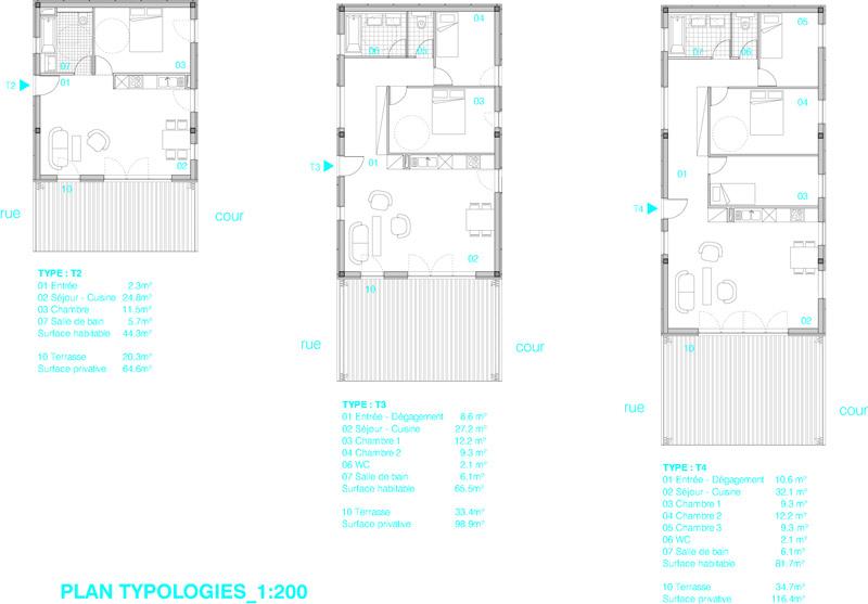 Apartment Building Plans 4 Units