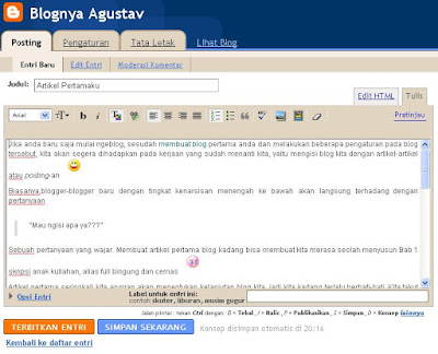 Tips Trik Klik: Tips langkah mudah membuat Blog dengan Blogger