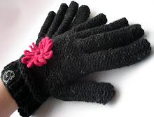 guantes flor tonos grafito