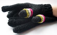 guantes bordados tono grafito