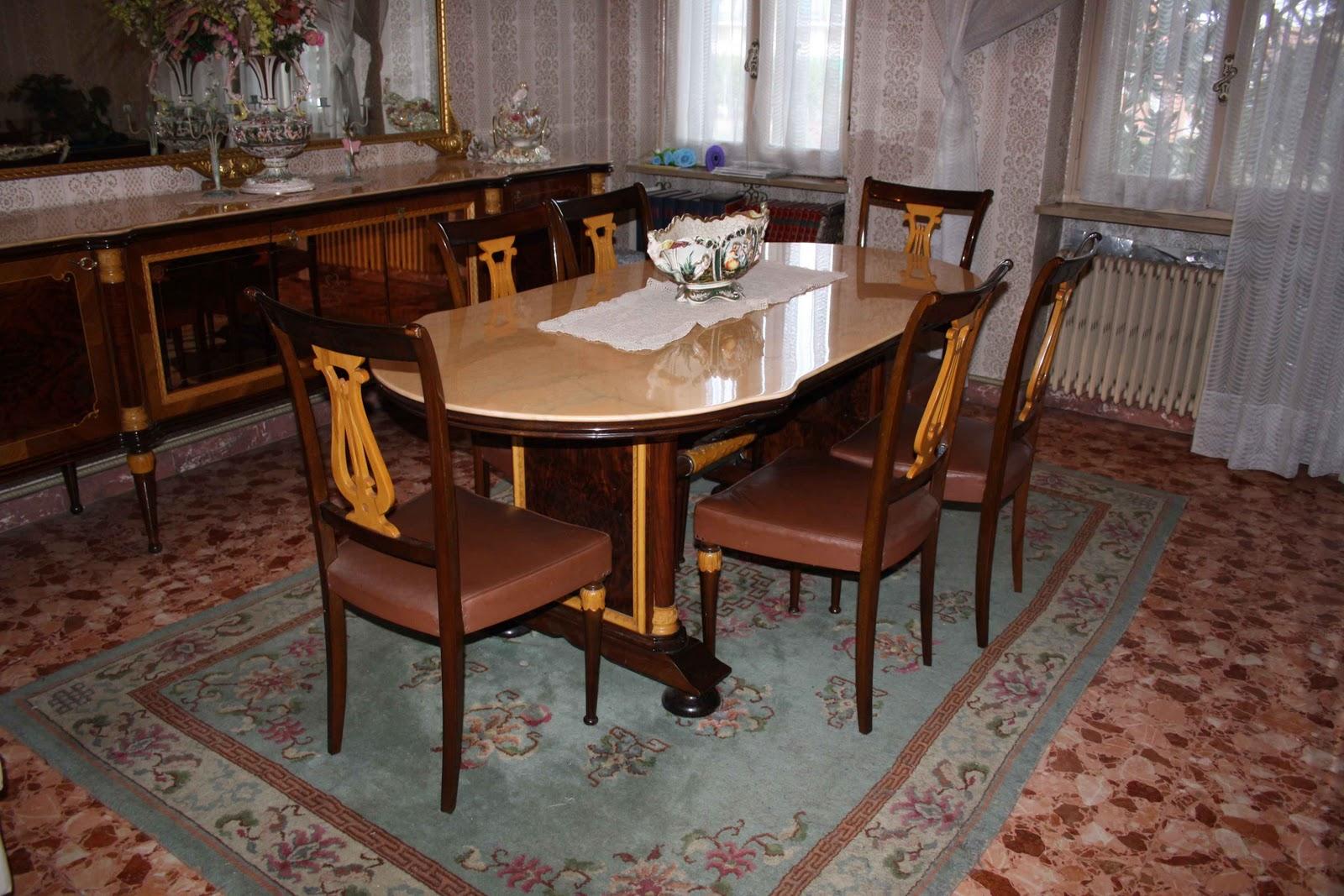 CreaMariCrea: Sos Mobili Anni'50 #A56926 1600 1067 Sala Da Pranzo Stile Veneziano Usata