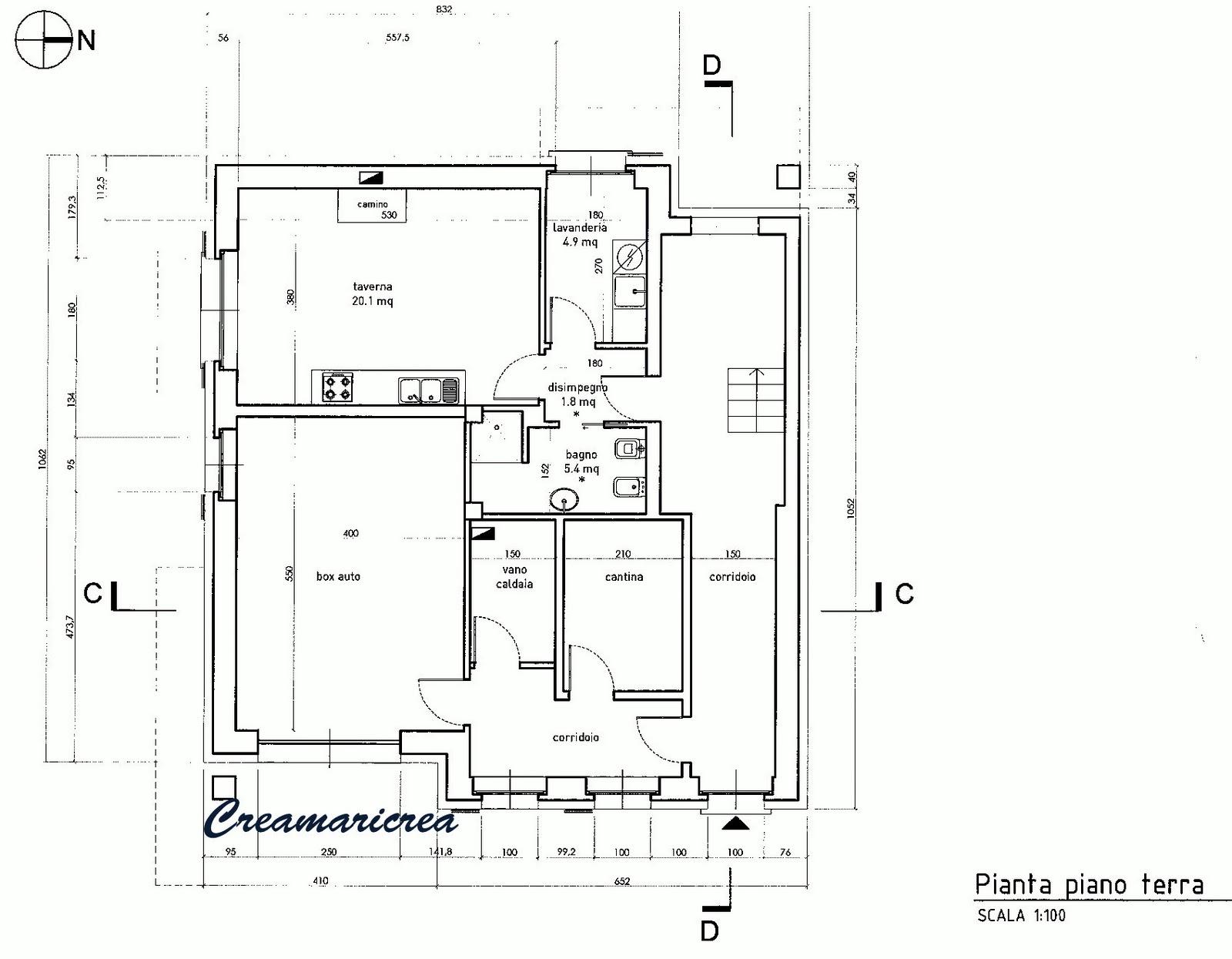 Creamaricrea la mia casa progetto le planimetrie for 1 piano garage con abitazione