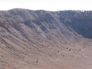 Meteor Crater, Arizona - View of the left side of the crater wall