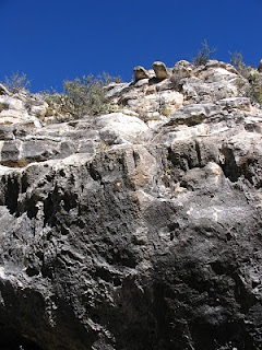 Rocky edifices of Walnut Canyon