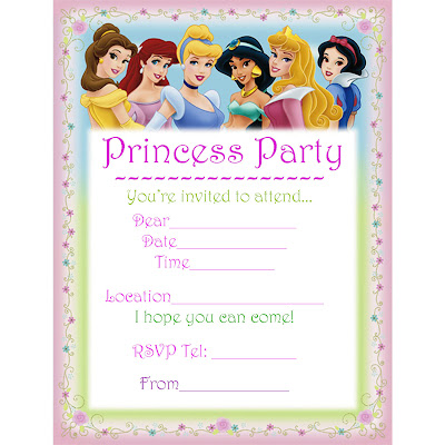 Unusual image in disney princess birthday invitations free printable