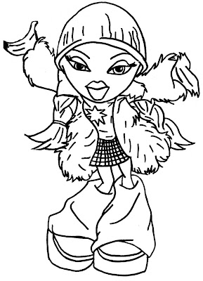 Bratz Coloring Pages on