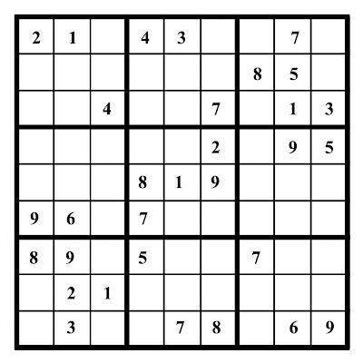 photo regarding Free Printable Easy Fill in Puzzles identified as no cost printable sudoku game titles: Web page Printable Very simple Sudoku