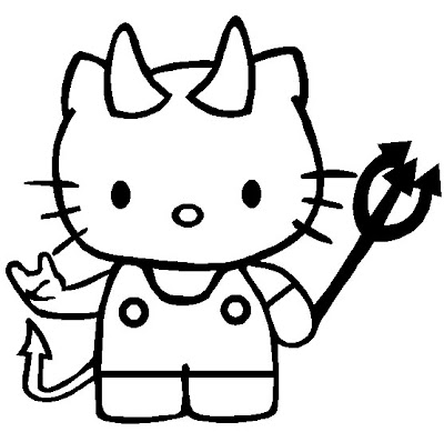 Hello Kitty Halloween Coloring Pages Printable