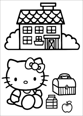 cute and pretty hello kitty coloring pages for you to print and color
