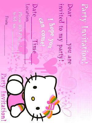 Hello kitty themed birthday party invitations printable hello kitty party