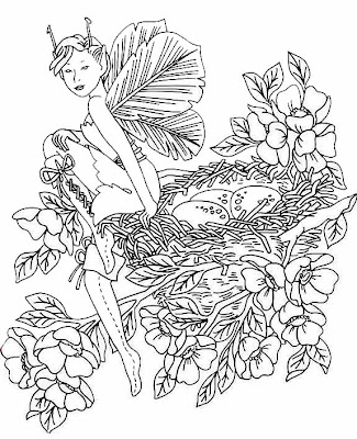 Fairy Coloring Pages on Classic Fairy Coloring Pages