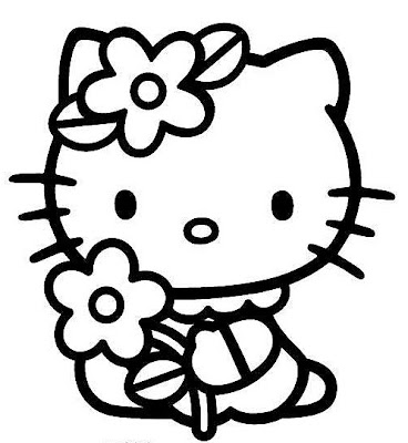 Cute Hello Kitty print and color pages are what this site is all about