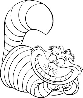 interactive magazine alice in wonderland coloring page