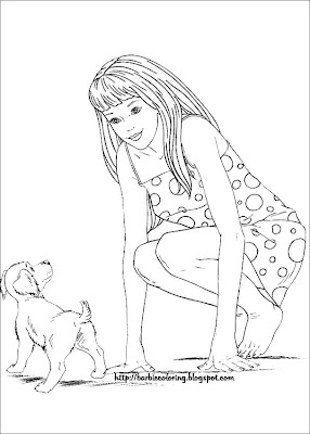 BARBIE COLORING PAGES: BARBIE COLOURING PAGES