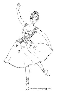 here is a ballerina barbie for you to print and color grab your crayons ladies theres coloring to do click on the image and it will open full size