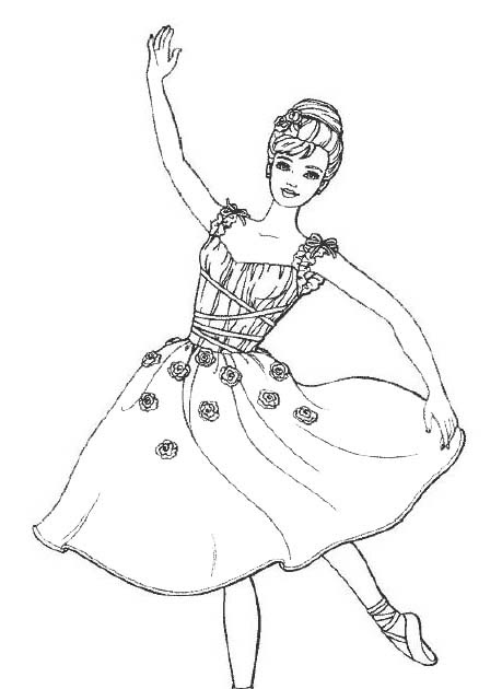 Barbie coloring pages barbie ballerina coloring for Barbie ballerina coloring pages