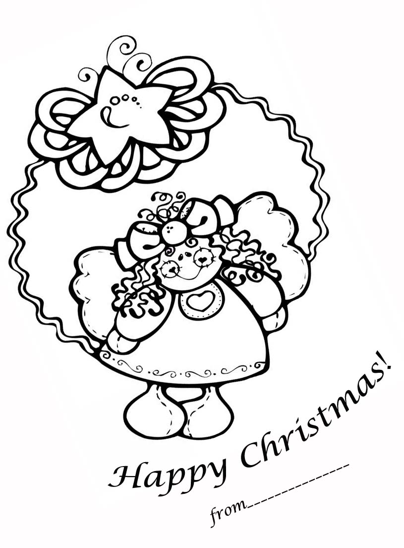 fairy coloring pages Merry Christmas Coloring Pages  Christmas Fairy Coloring Pages