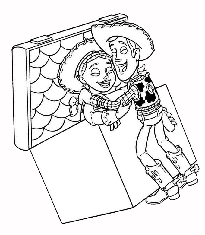woody jessie coloring pages - photo#12