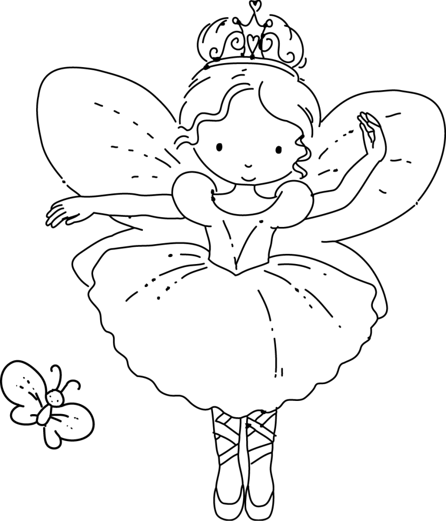 printable fairie coloring pages - photo#22