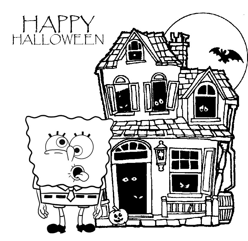 halloween spongebob coloring pages - photo#18