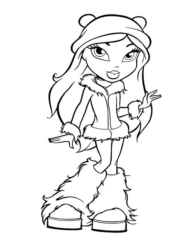 FREE PRINTABLE BRATZ COLORING PAGE title=