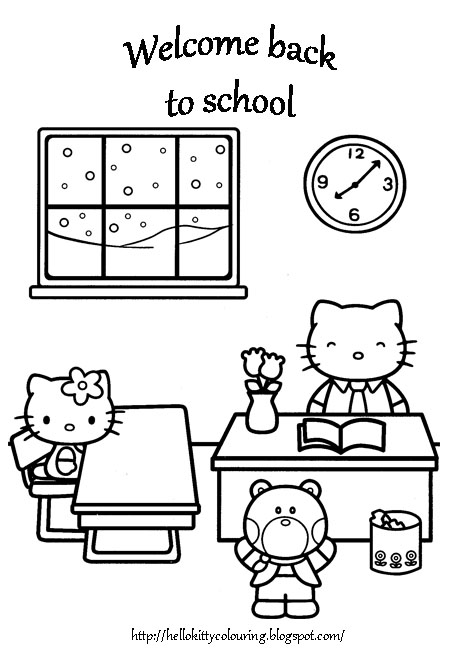 Hello Kitty Teacher Coloring Pages : Hello kitty coloring pages