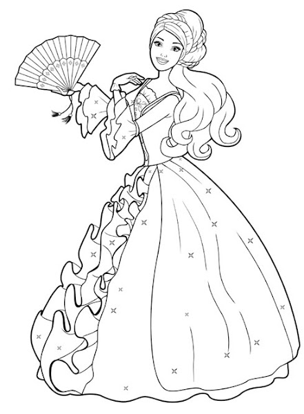 Barbie Princess Coloring Pages