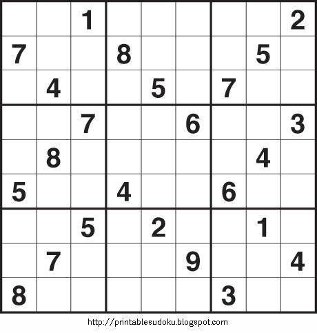Medium sudoku printable sheets