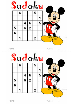 Sudoku Easy on Teachers   Activity Sheet   Work Sheet Sudoku For Children