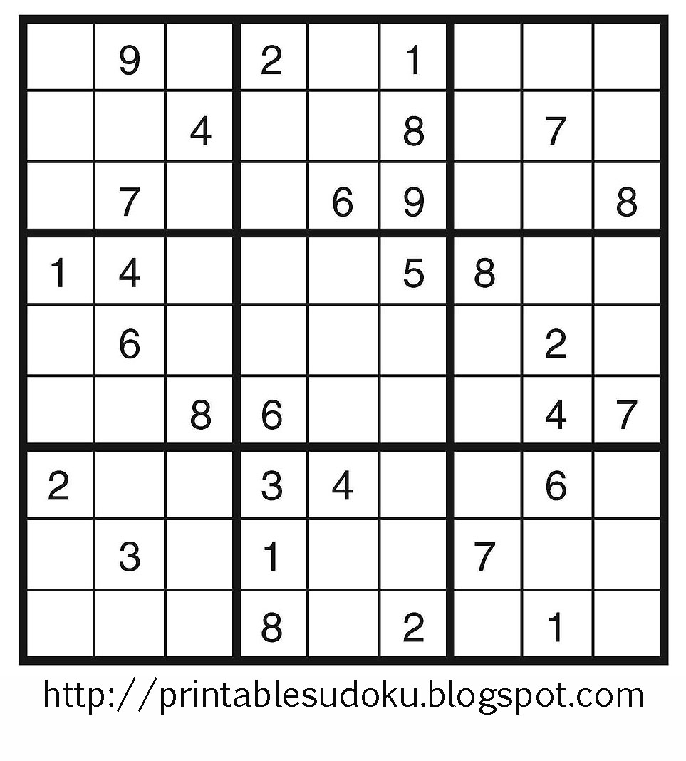 Free Printable Easy Sudoku Puzzle To Print