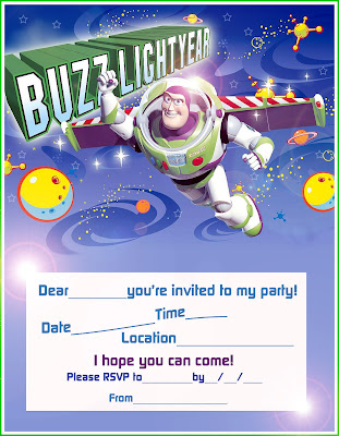 BUZZ LIGHT YEAR PARTY INVITE PRINT AND SEND