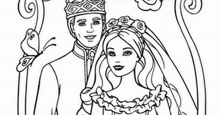 barbie coloring pages ken and barbie coloring pages
