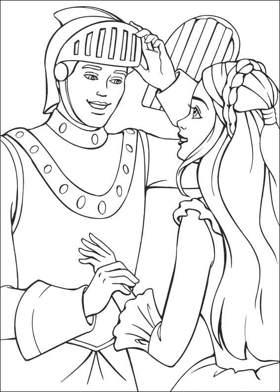 coloring pages princess barbie - photo#33