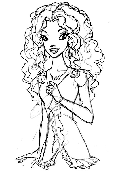 African American Barbie Coloring Pages