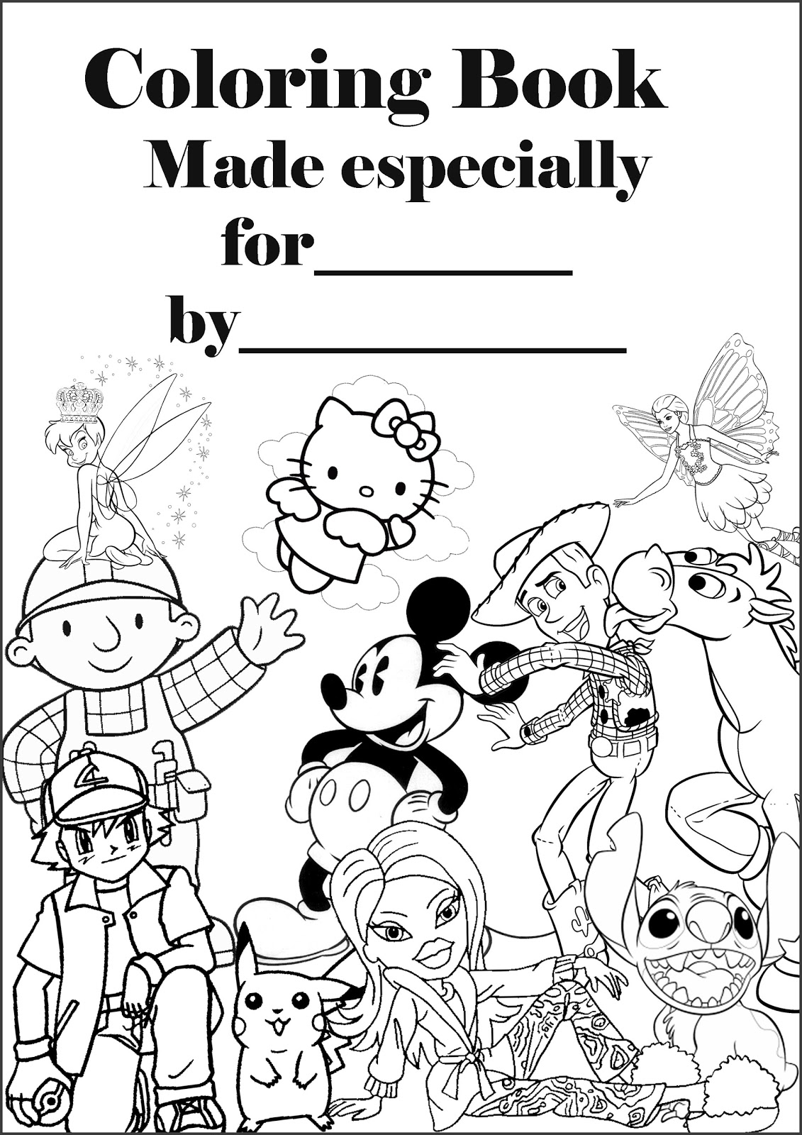 printable coloring book front cover page
