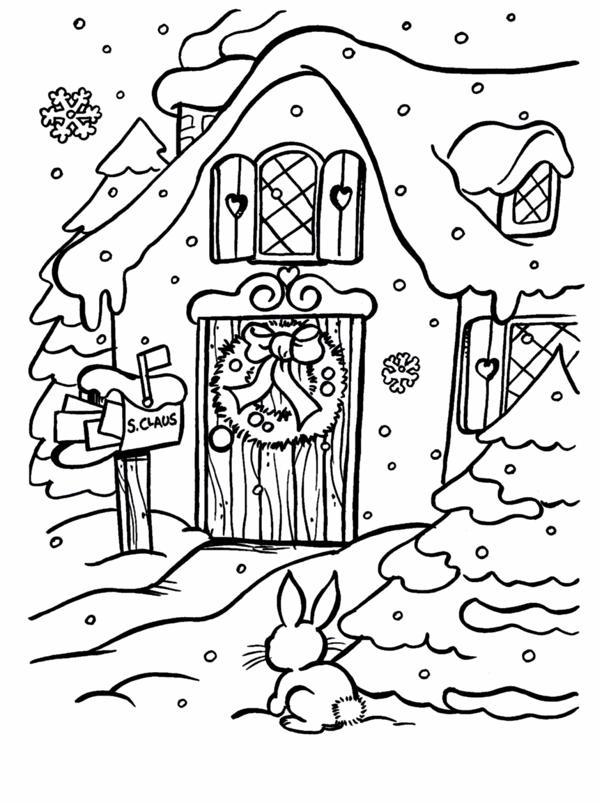 santas house coloring pages photo6