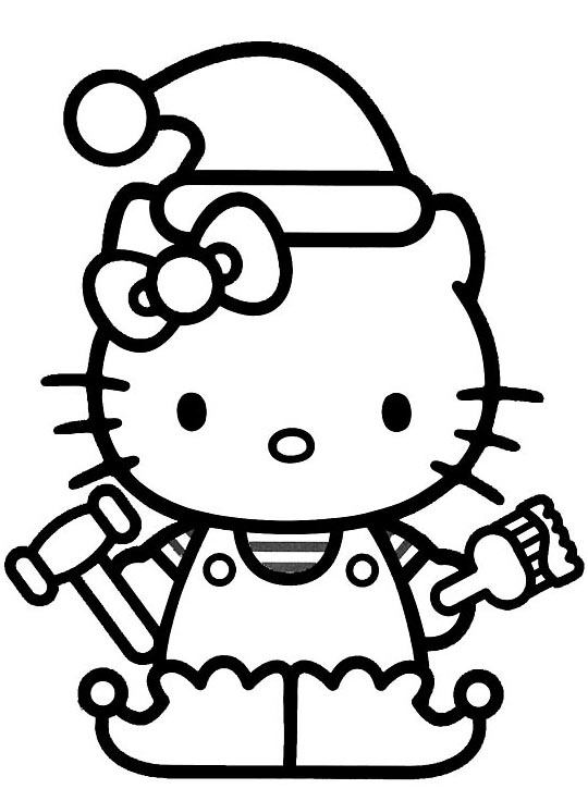 hello kitty holiday coloring pages - photo#12
