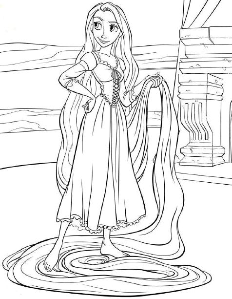 Princess Coloring Pages Rapunzel Tangled Coloring Pages