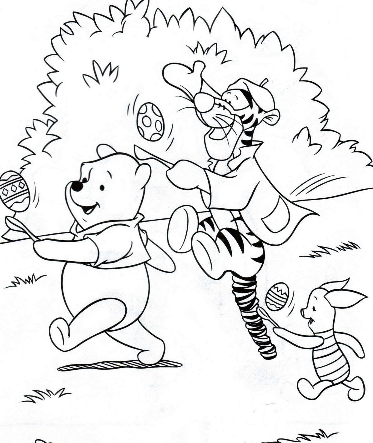 easter colouring winnie the pooh disney easter colouring pages