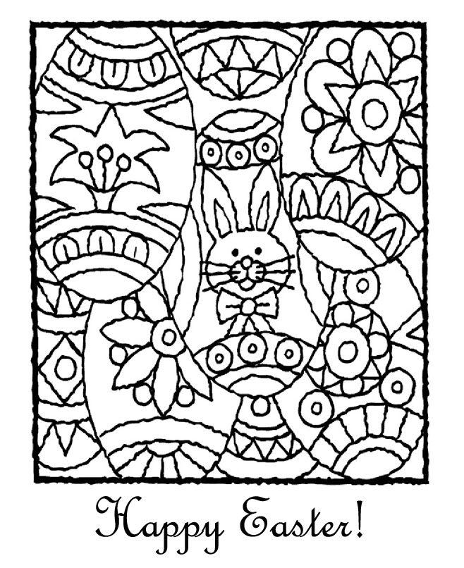 easter colouring happy easter bunny colouring page