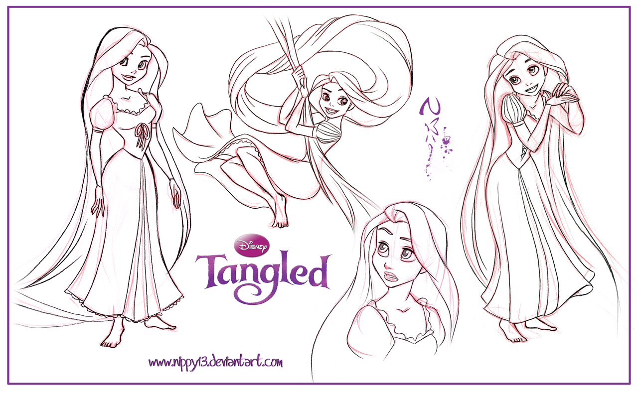 Free Barbie As Rapunzel Coloring Pages