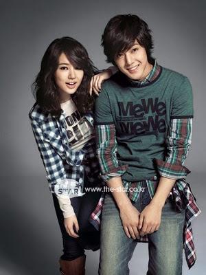 Kim Hyun Joong y Yoon Eun Hye posan con la nueva colección que