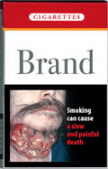 shock image on cigarette pack