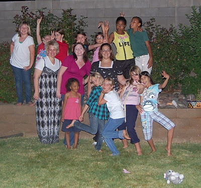 the pethel family girl scout going away party