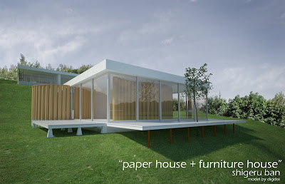 Paper House+furniture House By Shigeru Ban
