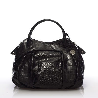 FURLA Clara Large Shopper- Black Croc
